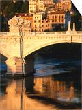 Ponte Vittorio Emanuele II Reflected in Tiber River at Sunrise  Rome  Italy