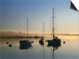 Moored Boats at Sunrise