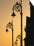 Georgian Lanterns at Sunset  Dublin  Ireland