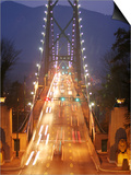 Lion's Gate Bridge Early Evening  Stanley Park  Vancouver  Canada