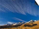 Cirrus Clouds over Eastern Sierra Nevada in Winter Seen from Buttermilk Road Near Bishop