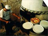 Pizzaiolo at Work at Pizzeria Trianon