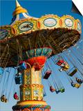 People Riding on Sea Swings at Santa Cruz Beach Boardwalk Amusement Park