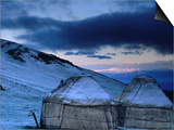 Yurts at Dawn  Kyrgyzstan