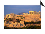 The Acropolis Taken from Phiopappos Hill  Athens  Greece