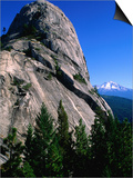 Castle Crags with Mt Shasta in Distance  California