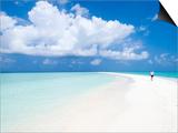 Morning Jogger on Sandbank  Kuramathi Island  Rashdoo Atoll  Alifu  Maldives