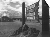 Entrance to Manzanar Relocation Center