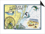Ocean City  Maryland - Nautical Chart