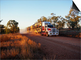 Roadtrain Hurtles Through Outback  Cape York Peninsula  Queensland  Australia