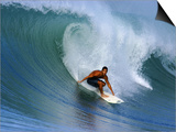 Surfer on Wave  Lagundri Bay  Pulau Nias  North Sumatra  Indonesia
