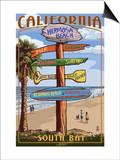 Hermosa Beach  California - Destination Sign