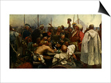 Reply of the Zaporozhian Cossacks after painting by Ilya Repin  1880 - 1891