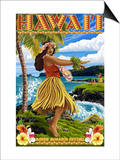 Hawaii Hula Girl on Coast - Merrie Monarch Festival
