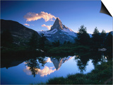 Reflection of the Matterhorn in Waters of Grindjisee  Switzerland