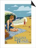 Laguna Beach  California - Woman on the Beach