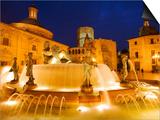 Turia Fountain  Plaza del la Virgen  Centro Historico  Valencia  Spain