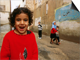 Children on Street in Old Town  South of Khoshk River  Shiraz  Iran