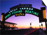 Neon Sign on Santa Monica Pier  Los Angeles  United States of America