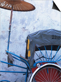 Detail of Rickshaw Leaning Against Wall on Cintra Street  Georgetown  Malaysia