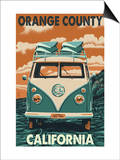Orange County  California - VW Van