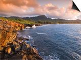 Poipu Beach  Cliffs  Kauai  Hawaii