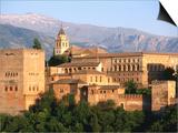 Alhambra from Albaicin  Granada  Andalucia  Spain