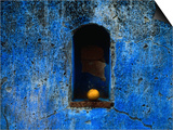 The Weathered Blue Facade to Santa Maria Tonantzintla Puebla  Mexico