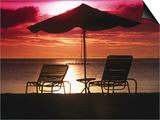 Sunset Over Beach  Palau