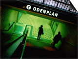 Passengers Entering Odenplan Metro Train Station  Stockholm  Sweden