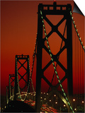 Bay Bridge from Treasure Island  San Francisco  California  USA