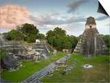 Grand Plaza with Temple of Great Jaguar (Temple I) at Right  in Mayan Ruins of Tikal