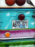 Detail of Numberplate at Back of 'Chicken Bus'  Most Common Transport in El Salvador