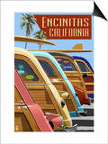 Encinitas  California - Woodies Lined Up