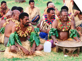 Men Seated for Ceremony  Fiji