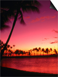 Sunset at Anaehoomalu Beach  Waikoloa  Hawaii  USA