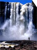 Person Standing in Front of Aponguao Falls (Chinak Meru)  Gran Sabana  Venezuela