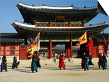 Gyeongbokgung Palace Changing of the Guard  Gwanghwamun  Seoul  South Korea