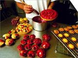 Chef Glazing Beautiful Cakes  Paris Patisserie Francaise