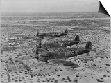 Formation of Spitfires Over North Africa  circa 1943