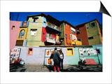 Street Market and Colourful Buildings  La Boca  Buenos Aires  Argentina