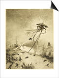 The War of the Worlds  a Martian Fighting-Machine is Destroyed by a Hit from a Shell