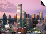 Downtown at Dusk from Reunion Tower  Dallas  Texas