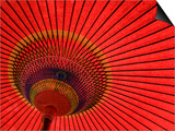 Traditional Red Japanese Paper Umbrella