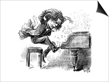 Anton Rubinstein Over-Enthusiastic Pianist Plays a Tune