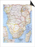 1962 Southern Africa Map