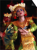 One of the Legong Dancers Competing in School Competitions at the Arts Centre  Denpasar  Indonesia