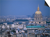 Napoleon's Tomb  in Eglise Du Dome of Hotel Des Invalides  from Eiffel Tower Paris  France