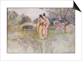 Japanese Couple in a Garden