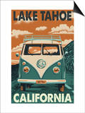 Lake Tahoe  California - VW Van
